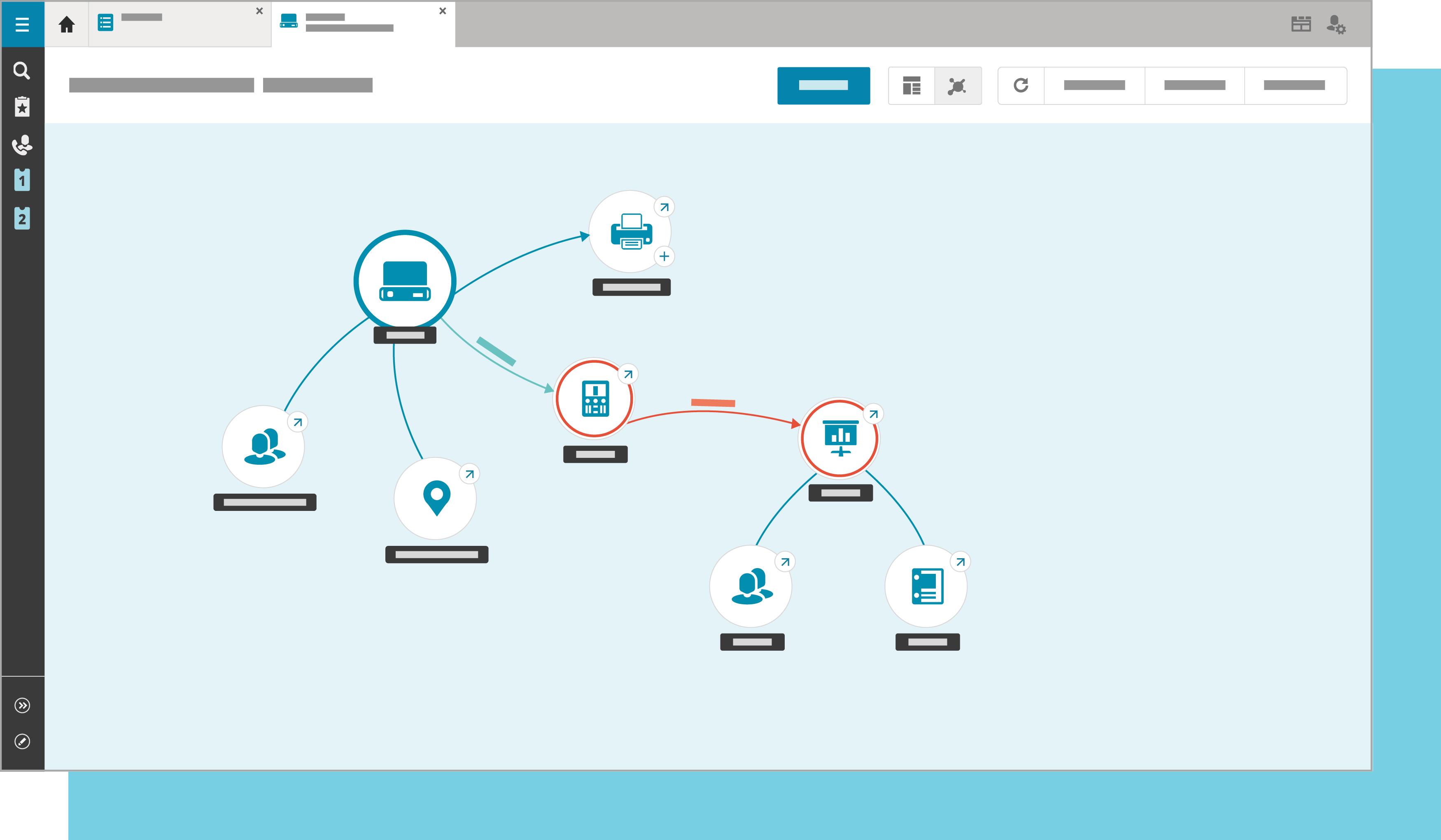Illustration föreställande ett IT-system