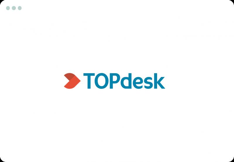 Illustration föreställande TOPdesk - ett ärendehanteringssystem för kommuner