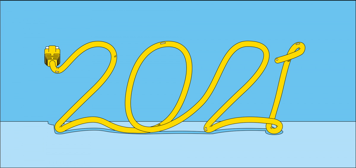 Grafisk Illustration 2021 | Trender servicehantering 2021 | IT Software