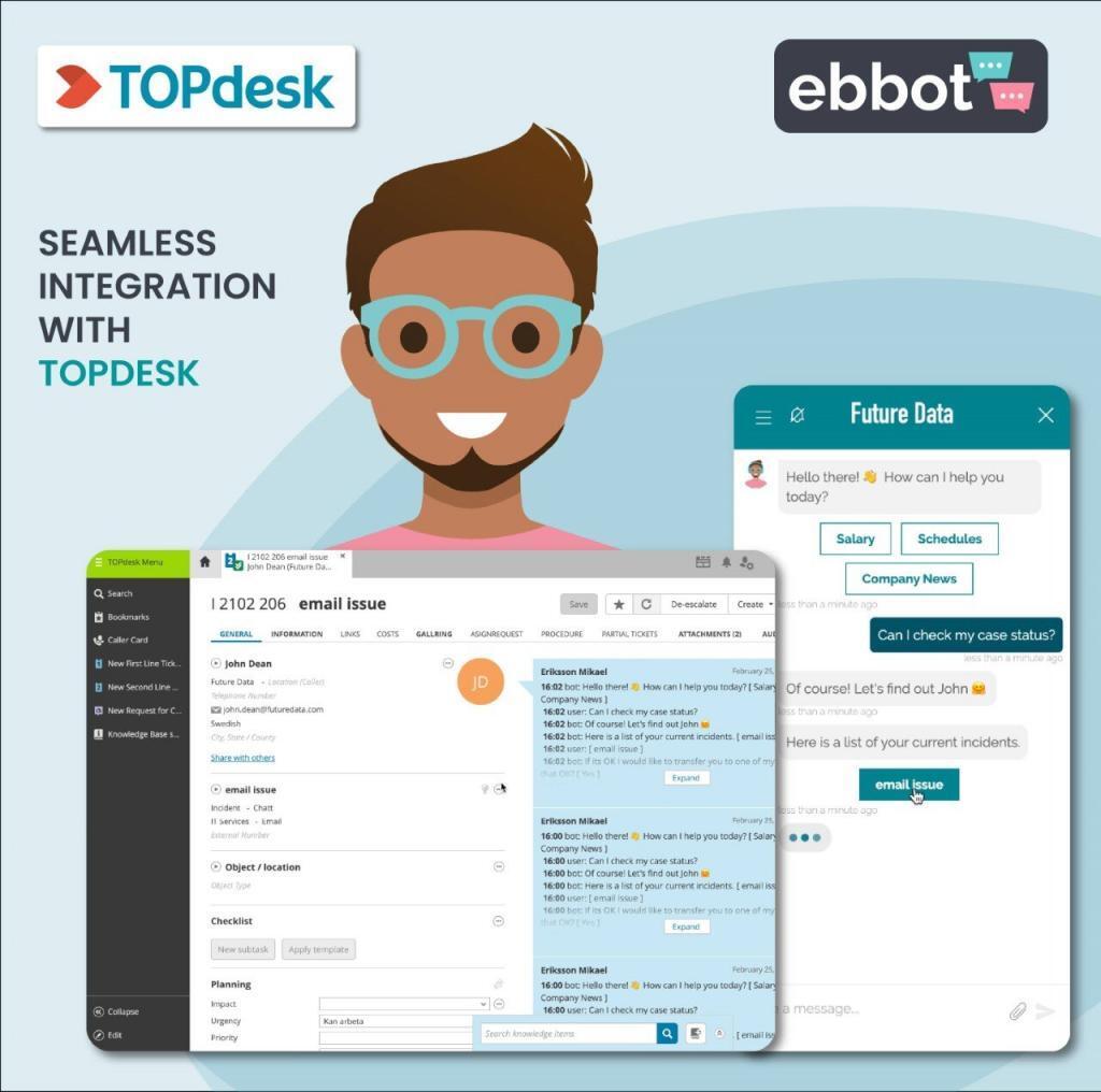 Pluginen mellan TOPdesk och Ebbot gör automatiserad ärendehantering möjlig