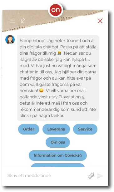 Illustration för chatkonversation. Kom igång med chatbot med hjälp av Ebbot.